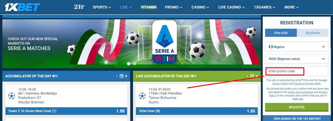 Where to use and how to get 1xBet promo code